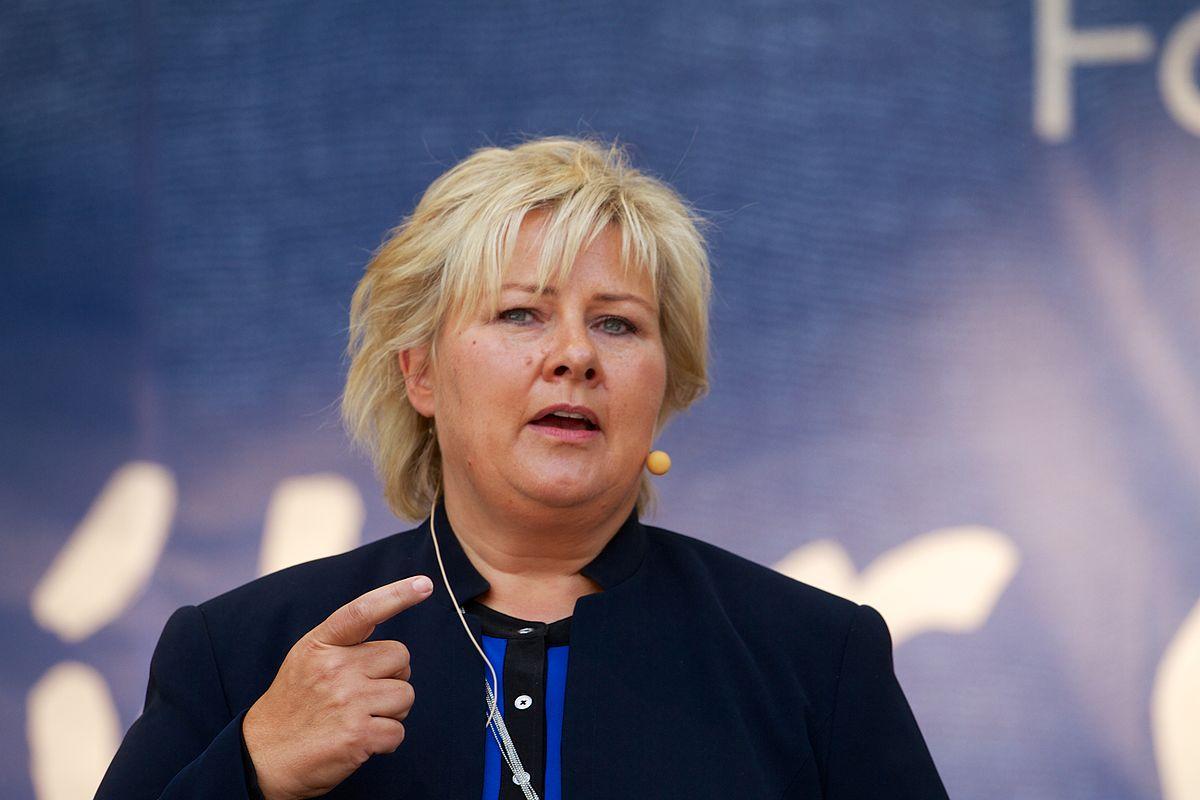 Erna Solberg, la