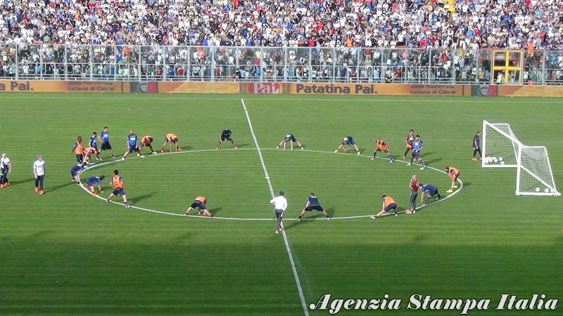 Alcune immagini dell'allenamento della Nazionale allo stadio Curi